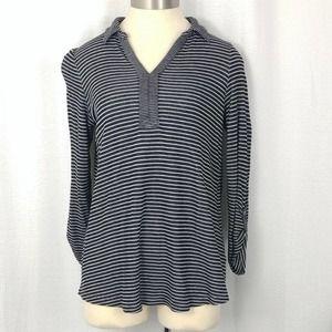 J. Jill collared striped shirt (size small)